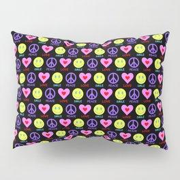 Peace Love Smile Pattern Pillow Sham