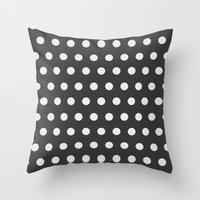 dots Throw Pillows featuring Dots by NobuDesign