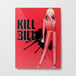 Kill Vampire Bill (Red Version) Metal Print