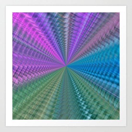 Psychedelic Twist Art Print