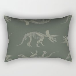 Triceratops Skeleton Rectangular Pillow