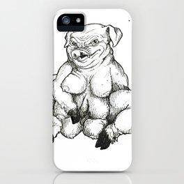 Confident Hog Woman iPhone Case