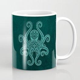 Intricate Teal Blue Octopus Coffee Mug