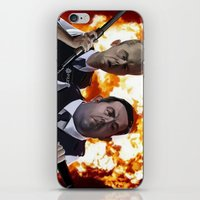hot fuzz iPhone & iPod Skins featuring Hot Fuzz by Richtoon