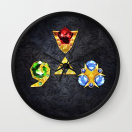 The Timeless Legend of Zelda Inspired Spiritual Stones Wall Clock