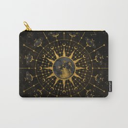 Steampunk Zodiac with Sun and Moon Carry-All Pouch