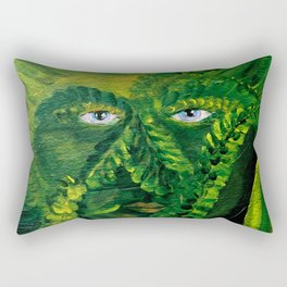 Garden Guardian Hurricane Gnome Rectangular Pillow