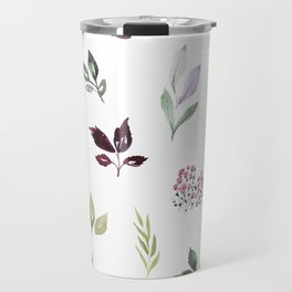 Tiny watercolor leaves Travel Mug