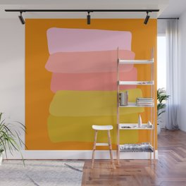 Abstract Sunset Colors Wall Mural