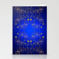 floral pattern Stationery Cards featuring Floral Pattern by Looly Elzayat