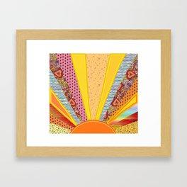 Sun Patterns Framed Art Print