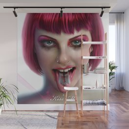 KISS ME - Pink Wall Mural