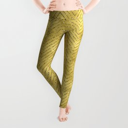 Gold ,Glitter and Chevrons Leggings