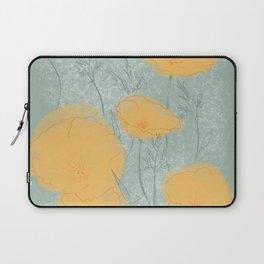 California Poppies in Gray Laptop Sleeve