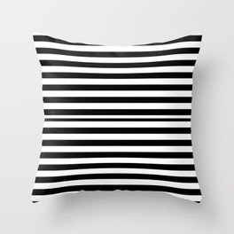 SCAN LINES (BLACK-WHITE) Throw Pillow