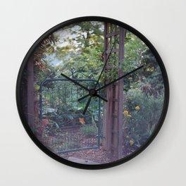 Garden Gate Wall Clock