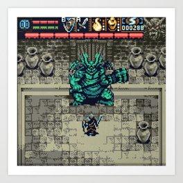 Dark Souls Gameboy Demake: Asylum Demon Art Print