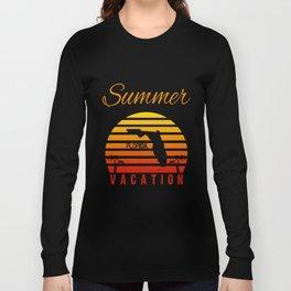 Summer Vacation Florida Miami Beach Holiday Retro Vintage Long Sleeve T-shirt