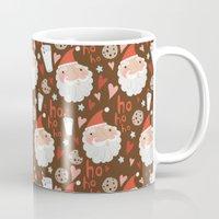 cookies Mugs featuring Santa's cookies by JenHoney
