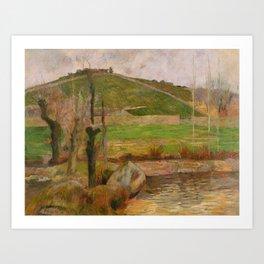 Paul Gauguin - Landscape near Pont-Aven (1888) Art Print