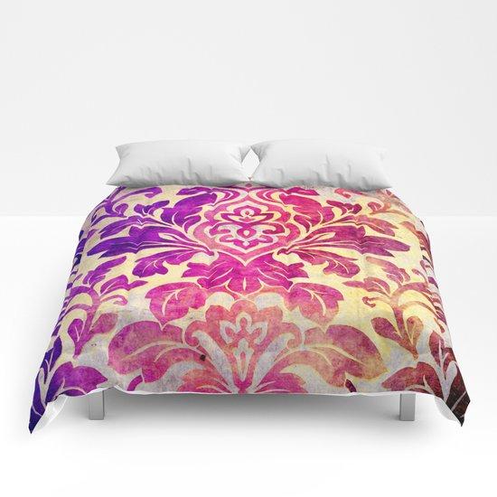 Purple Damask Pattern Comforters