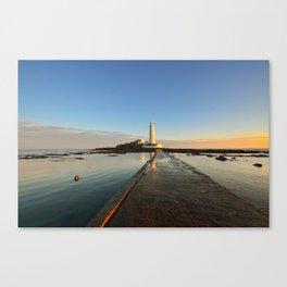 St Marys Lighthouse Canvas Print
