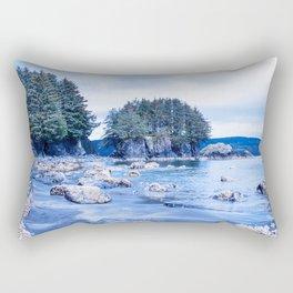 Spring Beach Photography Print Rectangular Pillow