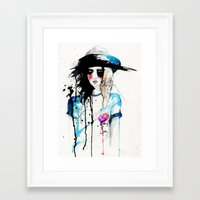 friday Framed Art Prints featuring Friday by Holly Sharpe