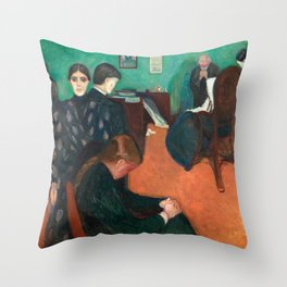 Edvard Munch - Death in the Sickroom, 1893 Throw Pillow