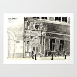 Cutlers' Hall Art Print