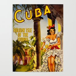 Cuba Holiday Isle of the Tropics Poster