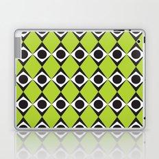 Lime circles & diamond pattern Laptop & iPad Skin