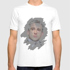 Michael Scott, The Office MEDIUM White Mens Fitted Tee