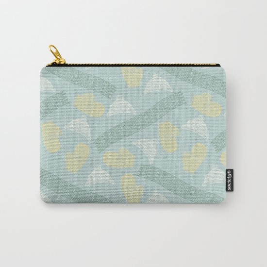 Merry Christmas- Winter fun pattern Carry-All Pouch