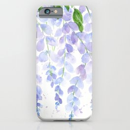 Wisteria Watercolor Print, Floral Watercolor by Liz Ligeti Kepler iPhone Case