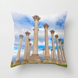 Capitol Arboretum Columns Throw Pillow
