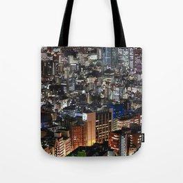 Tokyo Buildings at Night Tote Bag