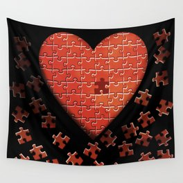 Puzzle Heart Wall Tapestry