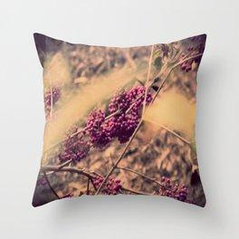 PURPLE BERRIES Throw Pillow