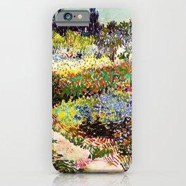 Vincent Van Gogh Flowering Garden iPhone Case