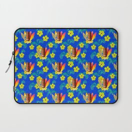 Surfboards And Tiki Mask Pattern Laptop Sleeve