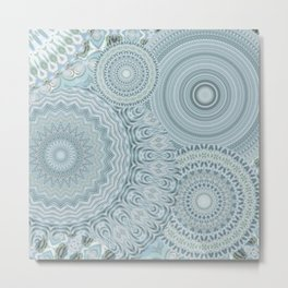 Ylide - Mandala storage Y of Alphabet collection Metal Print