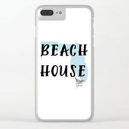 Beach House Decor Clear iPhone Case