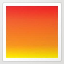 Red+Yellow=Orange Art Print