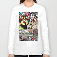 punk rock Long Sleeve T-shirts featuring Punk Rock poster by Mira C