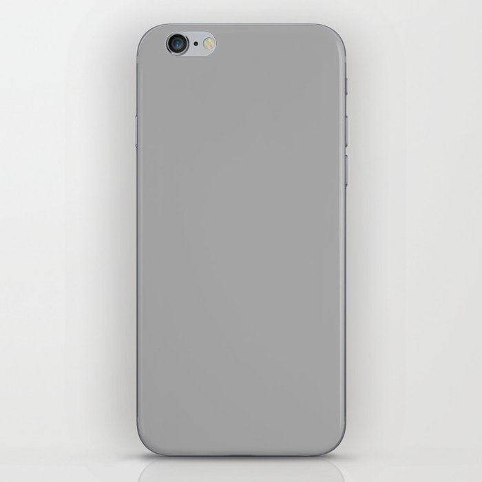 Dark Medium Gray - solid color iPhone Skin