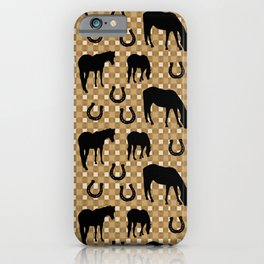Horse and Shoe iPhone Case