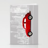 volkswagen Stationery Cards featuring red volkswagen  by Arefin