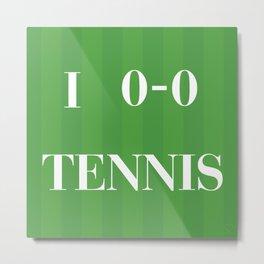 I heart Tennis Metal Print