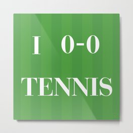 I heart Tennis Metal Print